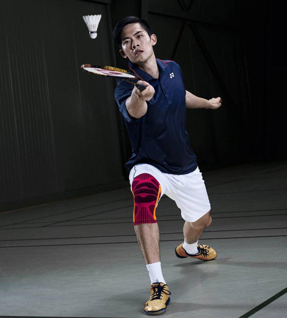 Bauerfeind Sports Knee Support Kniebandage im Badminton