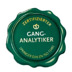 Siegel zertifizierter Ganganalytiker