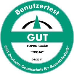 GüteSiegel TOPRO Troja
