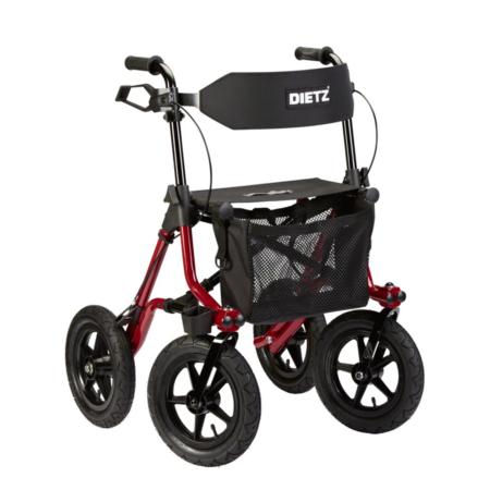 Rollator TAIMA XC mit Luftbereifung und optionalem Rückengurt