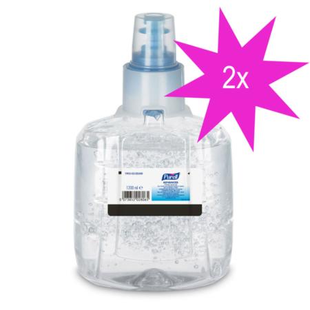 Doppelpack: 2 x 1200ml Nachfüllflasche Gojo Purell Advanced Händedesinfektion