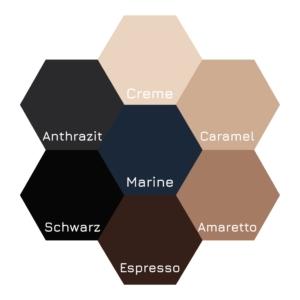 Farbübersicht von dennda zu den Bauerfeind Kompressionsstrumpf-Standardfarben