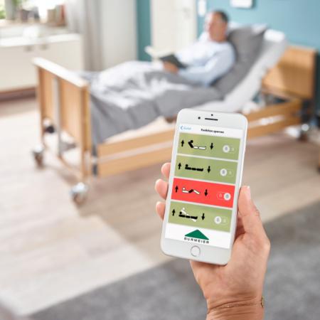 Digitale Burmeier Pflegebett-App