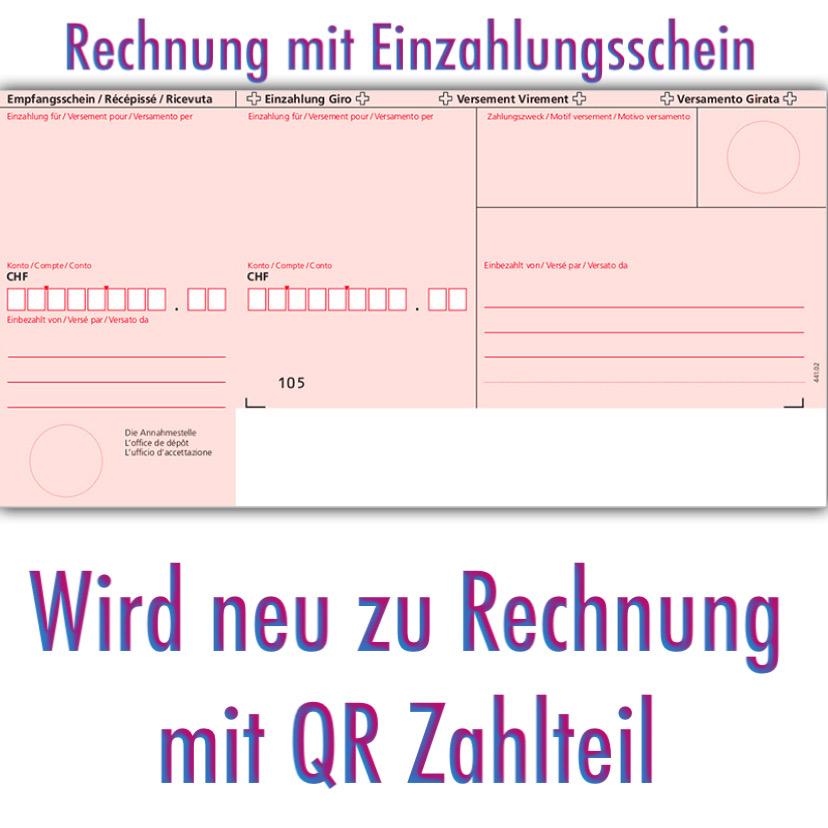 QR-Rechnung statt Einzahlungsschein