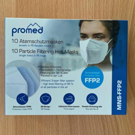 Promed Mund-Nasen-Schutz im Karton, CE2834 zertifiziert