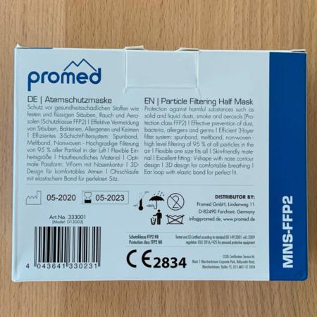 zertifizierte Atemschutzmaske Promed FFP2