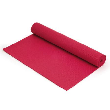 Sissel Yogamatte 0.4cm dick in Farbe rot aufgerollt