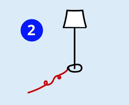 Sturzprophylaxe: Herumliegende Kabel entfernen