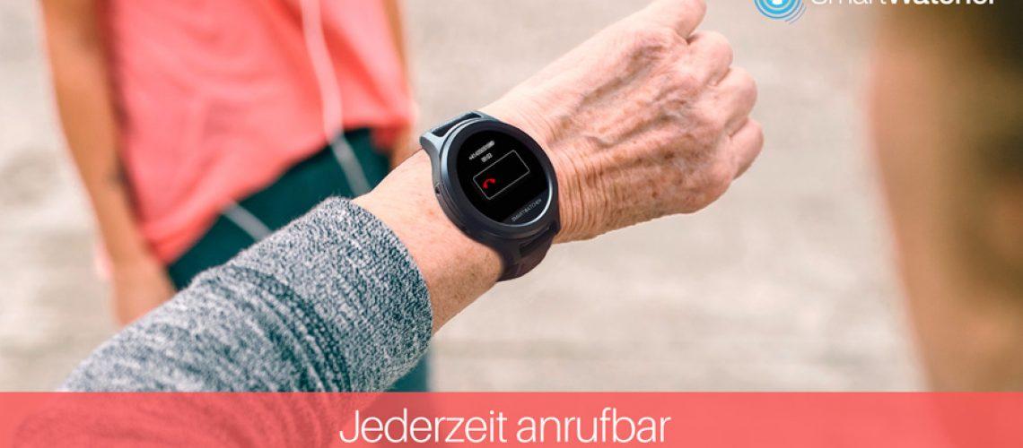 Smartwatcher Notrufuhr - jederzeit anrufbar